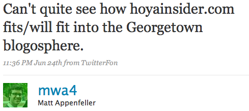 Can't quite see how hoyainsider.com fits/will fit into the Georgetown blogosphere.
