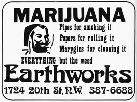 High times:  In the 1970s the Voice ran ads like this and printed recipes for pot roast, hash browns and marijuana mushroom soup.