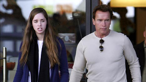 Christina and Arnold Schwarzenegger
