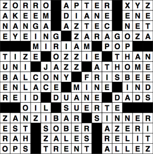 "Crossword Solutions 09.02.09 ""Zzz"""