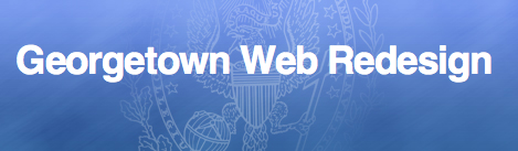 Georgetown Web Redesign