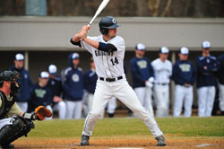 Justin Leeson is a steady presence at the plate, hitting .306 with 18 RBIs. (Photo Courtesy Georgetown Sports Information)