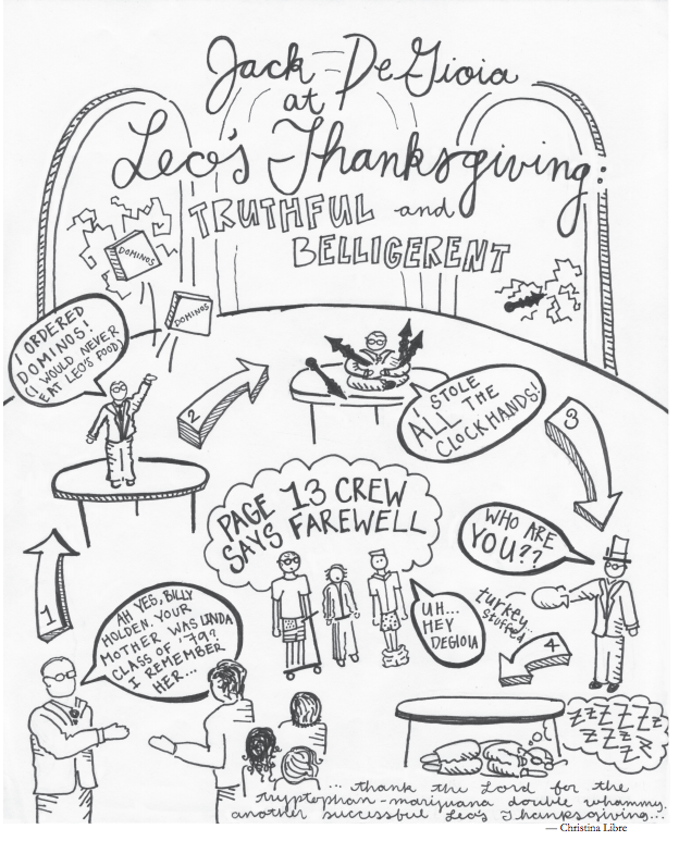 Jack DeGioia at Leo's Thanksgiving: Truthful and belligerent