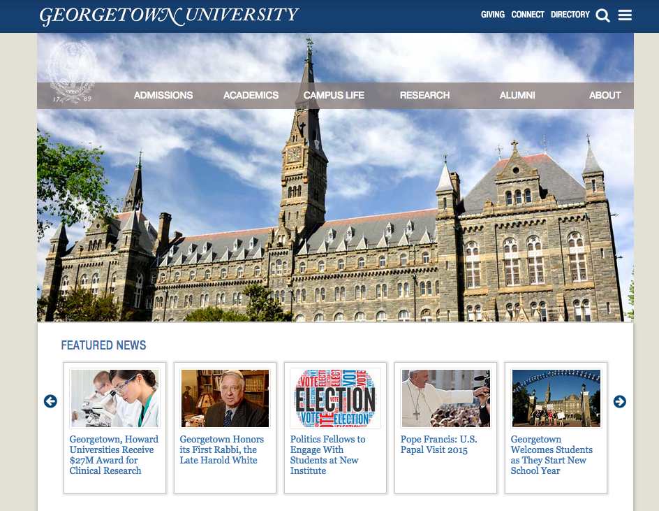 Georgetown redesigns website to better organize resources