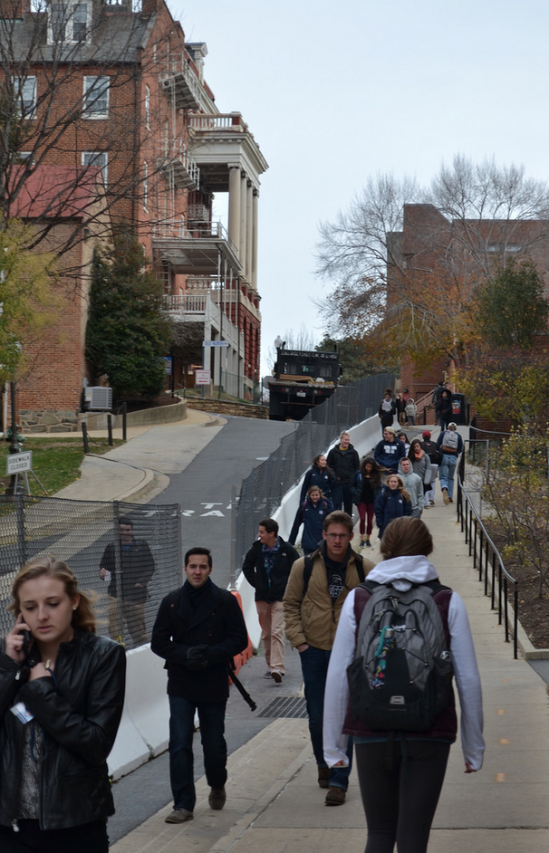 Crowded walkways are all that Georgetown students have known in the past year.