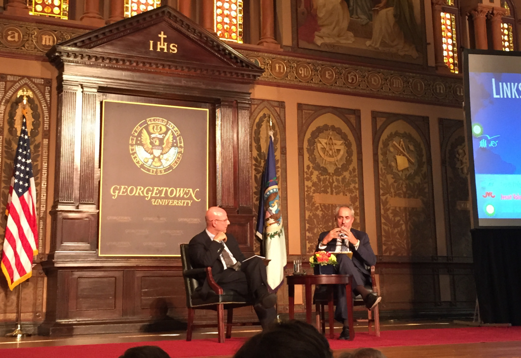 Hellman, Dujarric speak on global challenges to governance and aid
