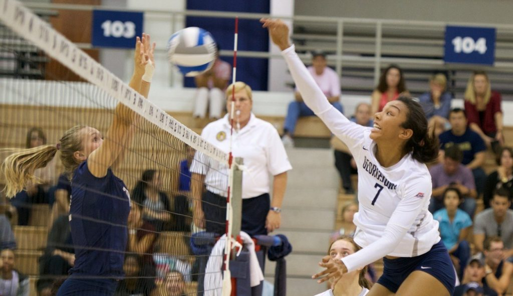 Colonial Affair: Volleyball falls to crosstown rival George Washington