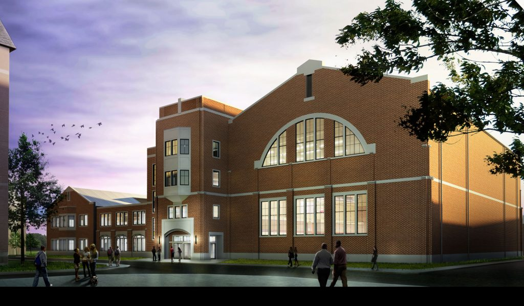 A rendering of the John R. Thompson Jr. Intercollegiate Athletics Center, currently under construction. Image: Georgetown Sports Information