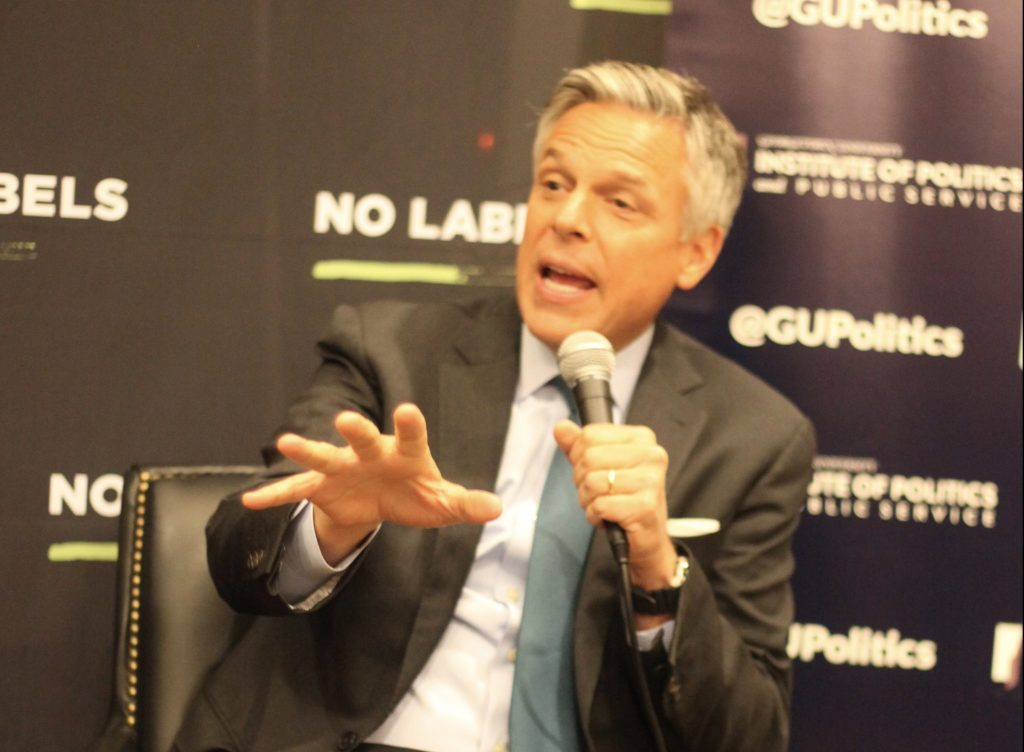 Huntsman addresses bipartisanship and political gridlock