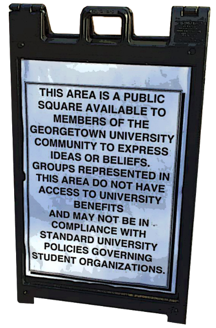 Free Speech Tabled: A Need for New Rules at the Georgetown University Law Center