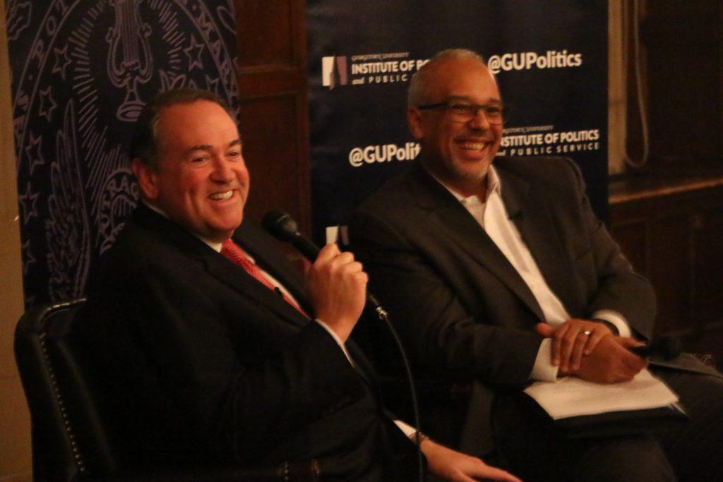 GU Politics hosts Huckabee for first 'Reflections on Running'