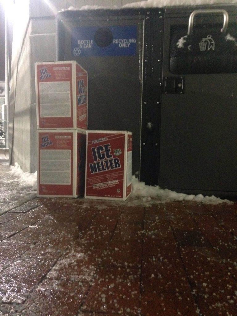 University's ice-melting practices raise concern
