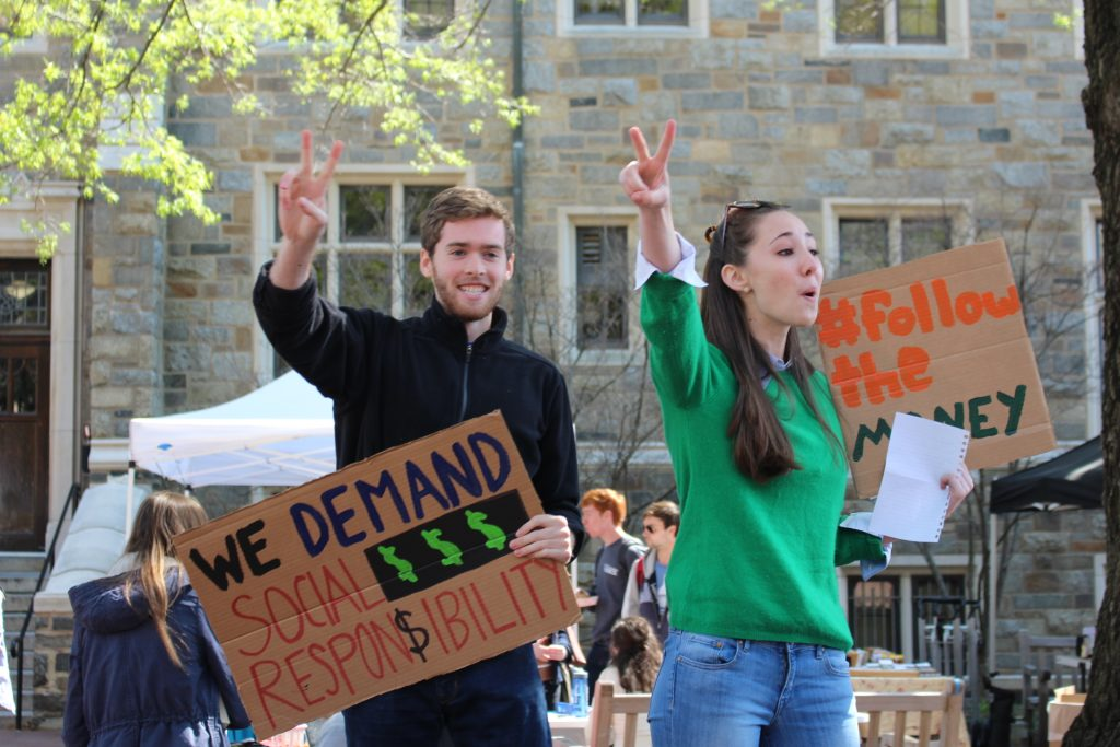 GU Fossil Free unites student groups for rally