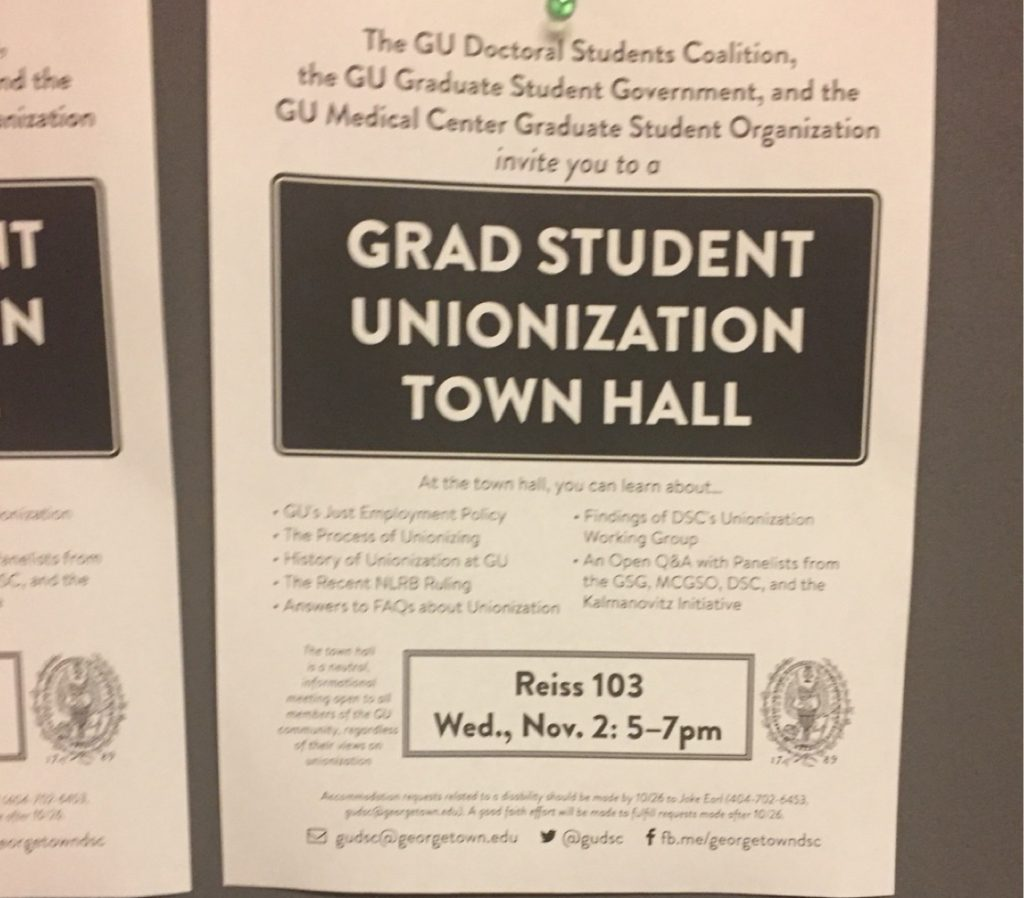 Grad students discuss unionization at town hall