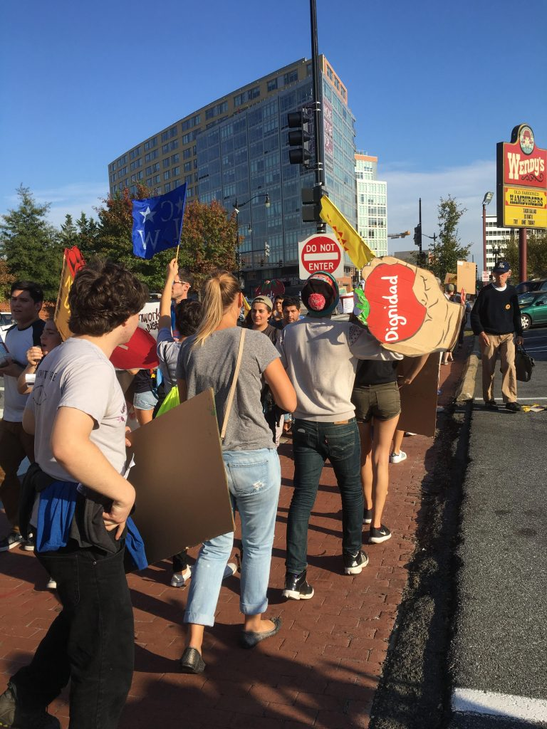 Georgetown students attend Wendy's boycott march