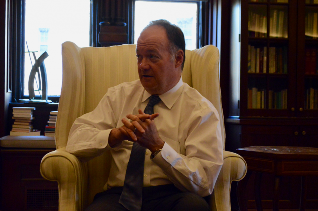 On the Record with President DeGioia on Free Speech, Affordability, and Working With Descendants of Slaves