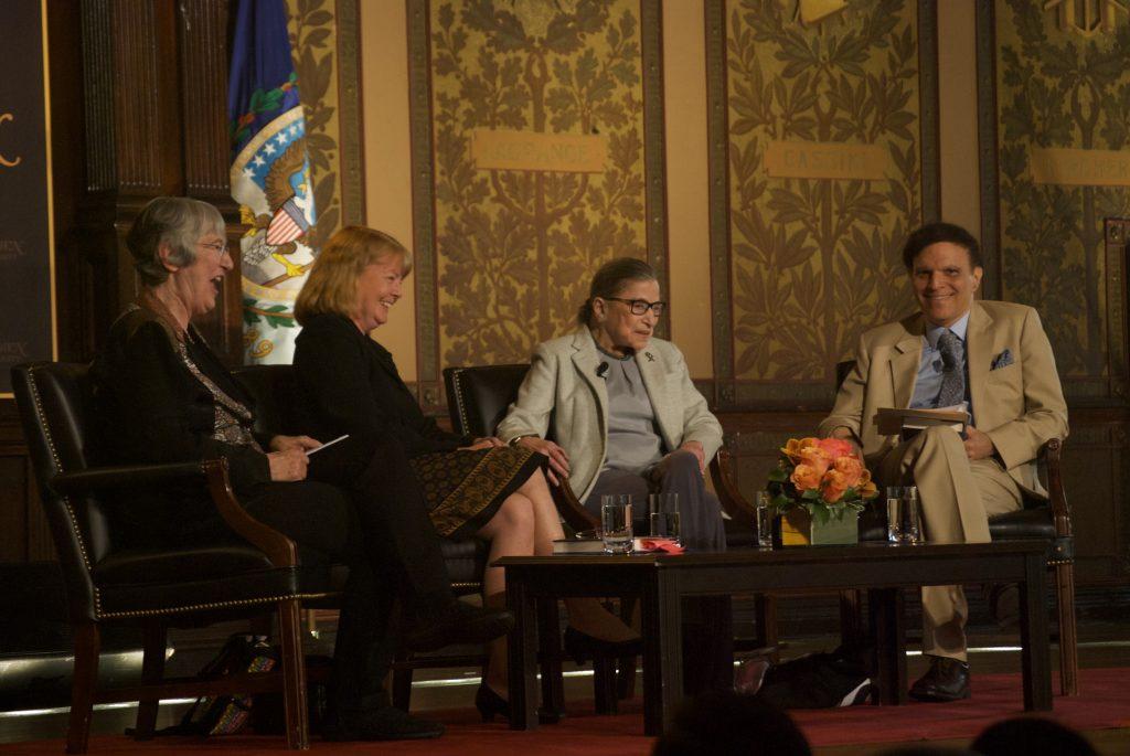 Ruth Bader Ginsburg reflects on career at panel