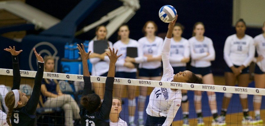Volleyball falls in four sets at VCU