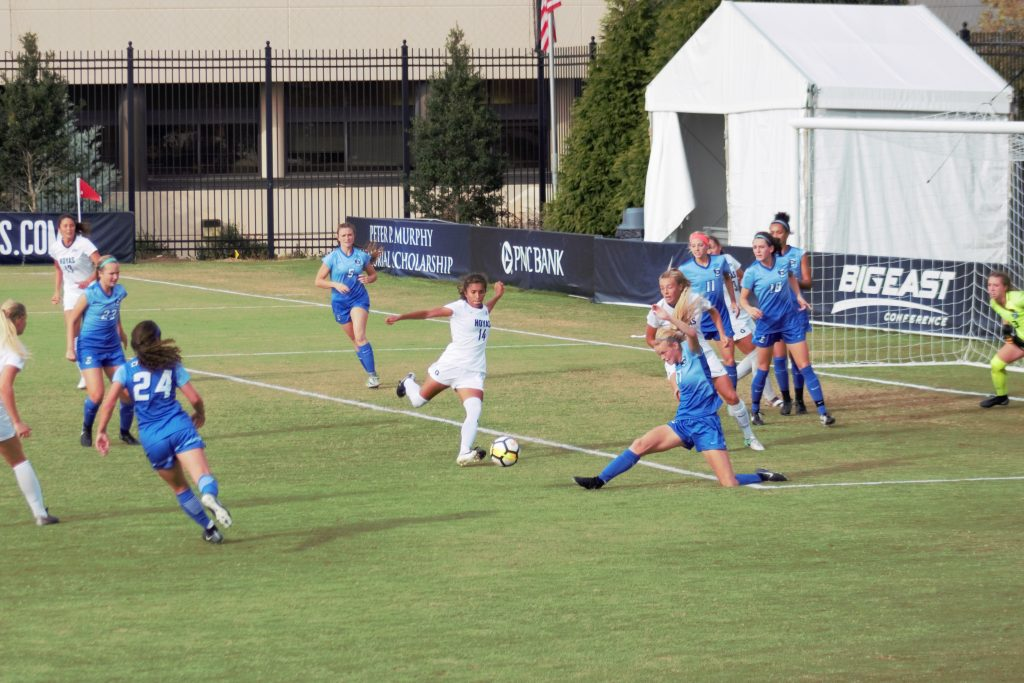 Georgetown's late goal not enough as No. 12 women's soccer draws with Creighton