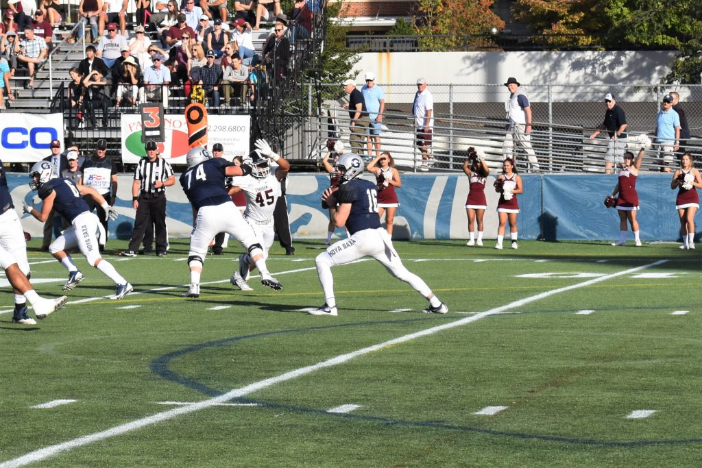 Football's Herman Moultrie III leads the way to victory over Bucknell