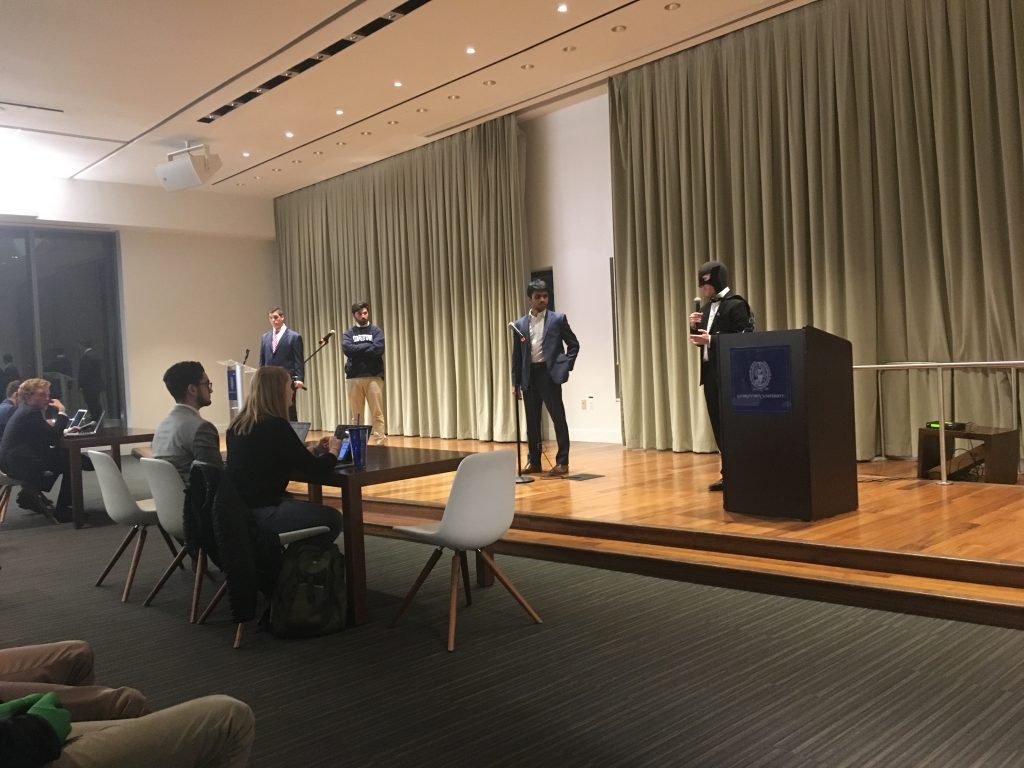 Presidential candidates debate GUSA's role, influence on campus