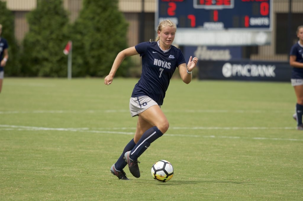 Women's soccer takes down GW to stay undefeated