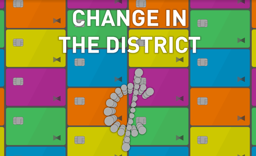 Change in the district: The price of going cashless