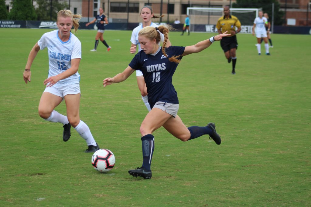 Women's Soccer Trounces Columbia