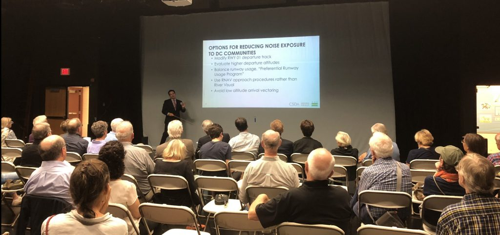 City officials meet with neighborhood to discuss plane noise