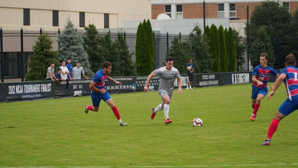 Men's soccer wins late against Villanova