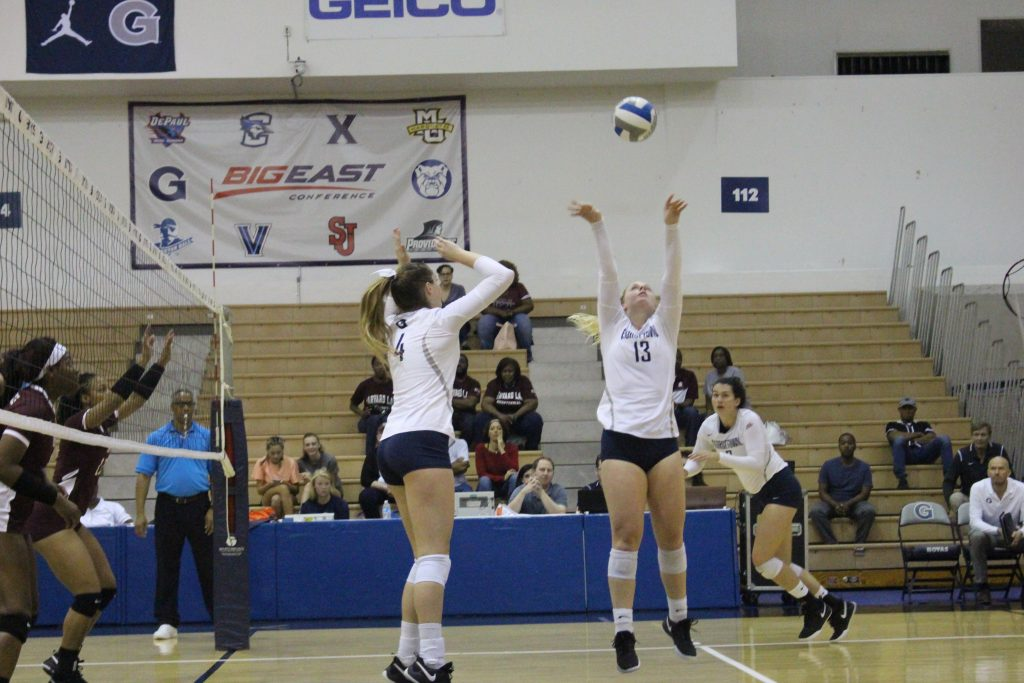 Volleyball Drops Pair to Big East Foes
