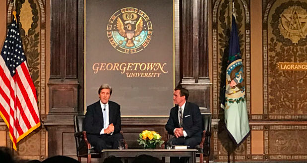 John Kerry discusses new book, climate change, and democracy