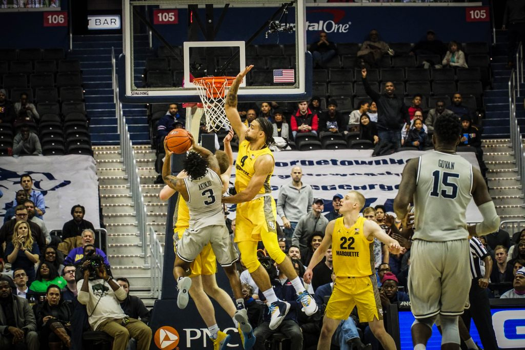 Men's Basketball Hangs Around But Can't Finish Against No. 15 Marquette
