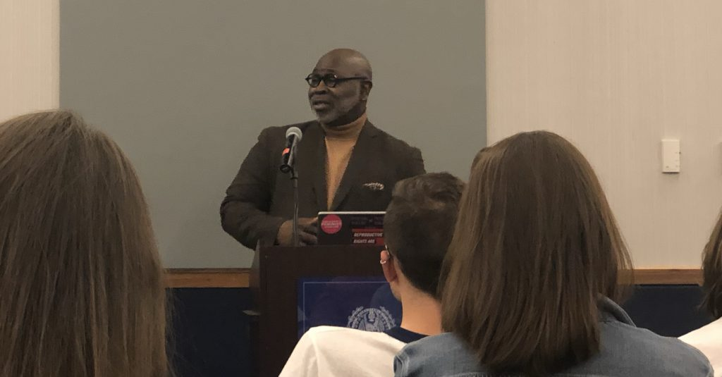 Dr. Willie Parker discusses women's health, religion in lecture