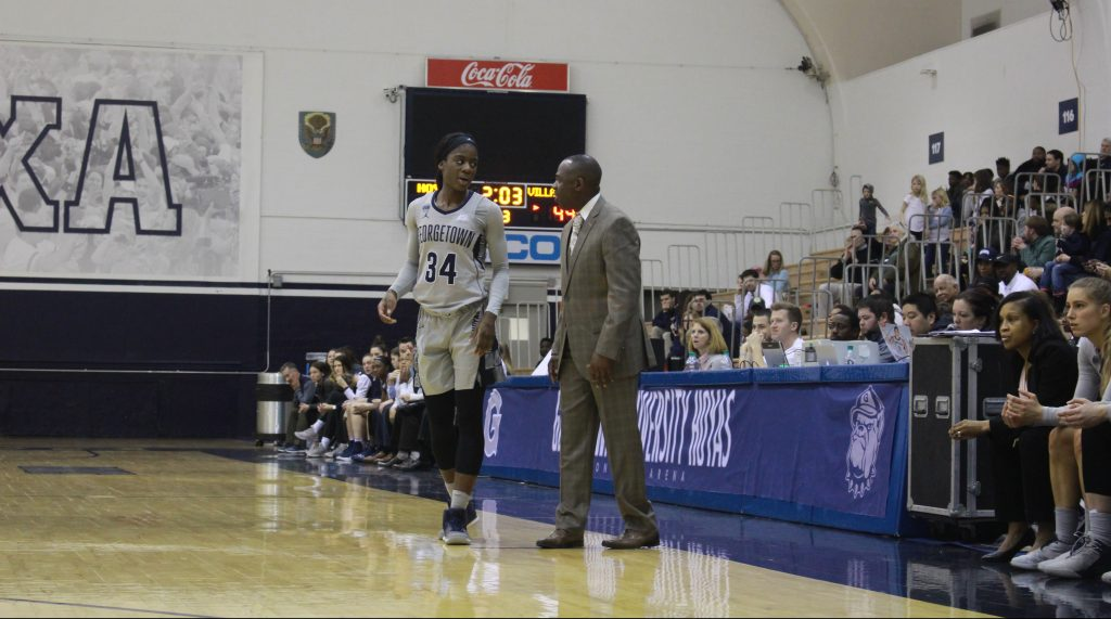 Women's Basketball Tops Villanova as Howard collects 100th win