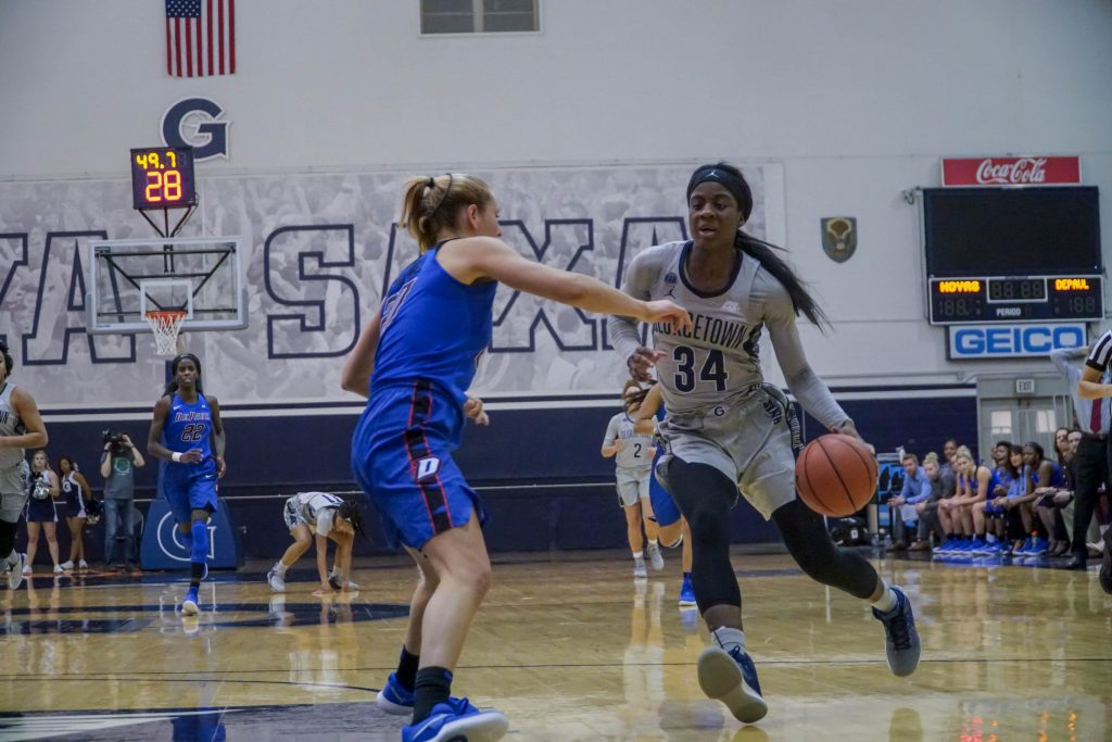 Adomako Leads Women's Basketball to Key Victory over Creighton