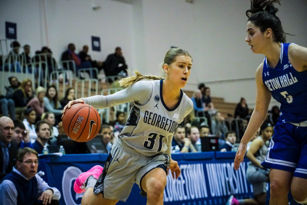 Women's Basketball Defeats Seton Hall with Second Half Comeback