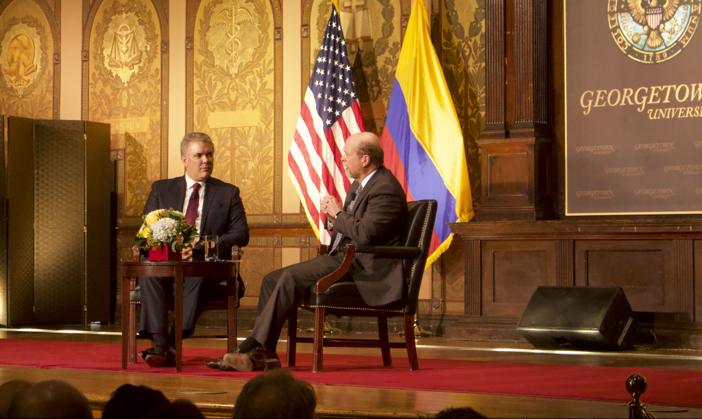 President Duque Discusses Future of Colombia in Gaston Event