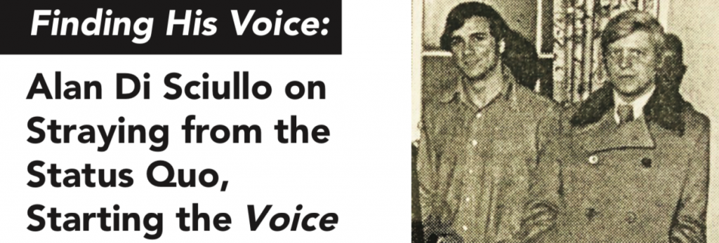 Finding His Voice: Alan Di Sciullo on Straying from the Status Quo, Starting the Voice
