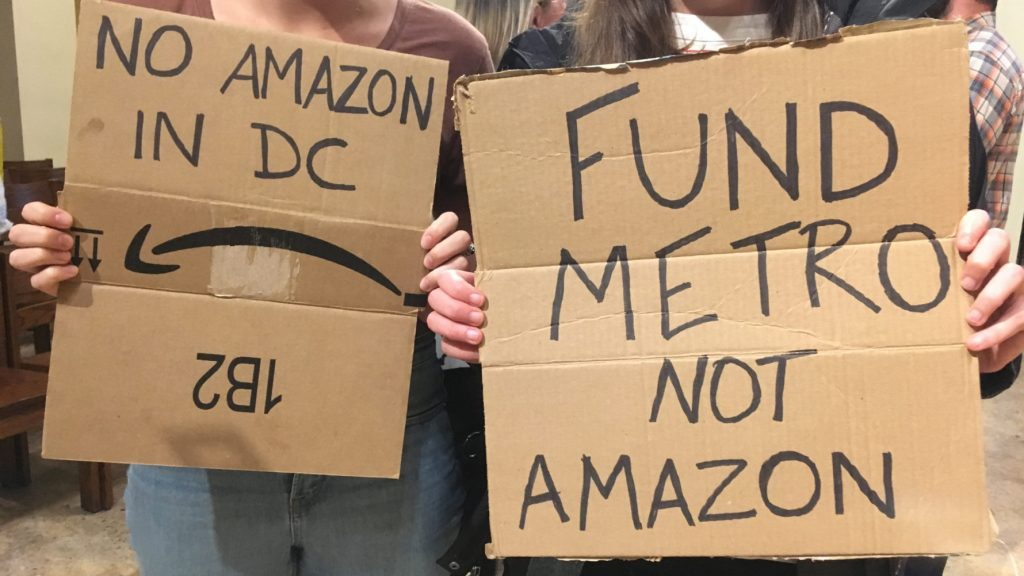 Local Activists and Residents Take on Amazon's HQ2, Criticize Lack of Transparency
