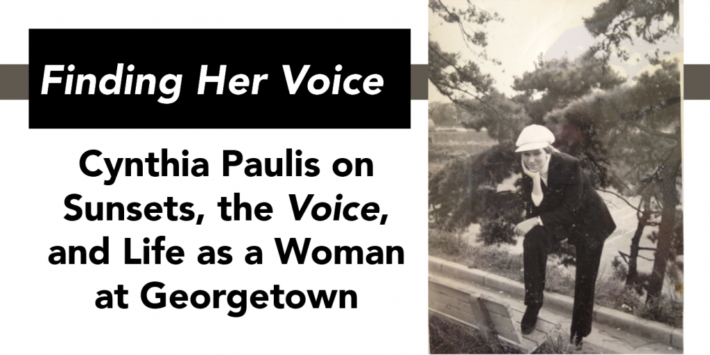 Cynthia Paulis On Sunsets, the Voice, and Life as A Woman at Georgetown