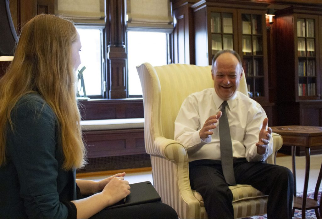 On the Record: President DeGioia on Title IX, the GU272, and more