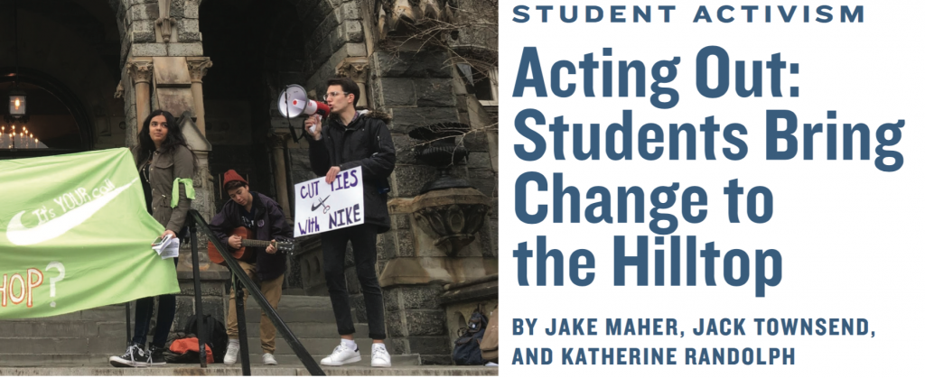 Acting Out: Students Bring Change to the Hilltop