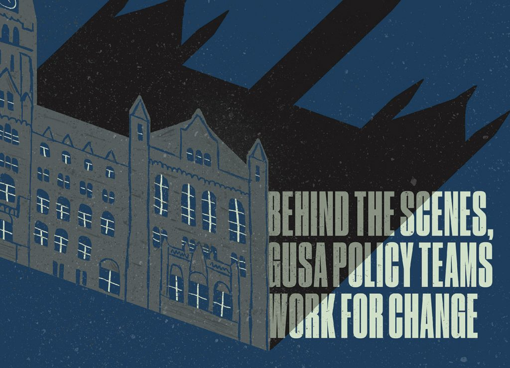 Behind the Scenes, GUSA Policy Teams Work for Change