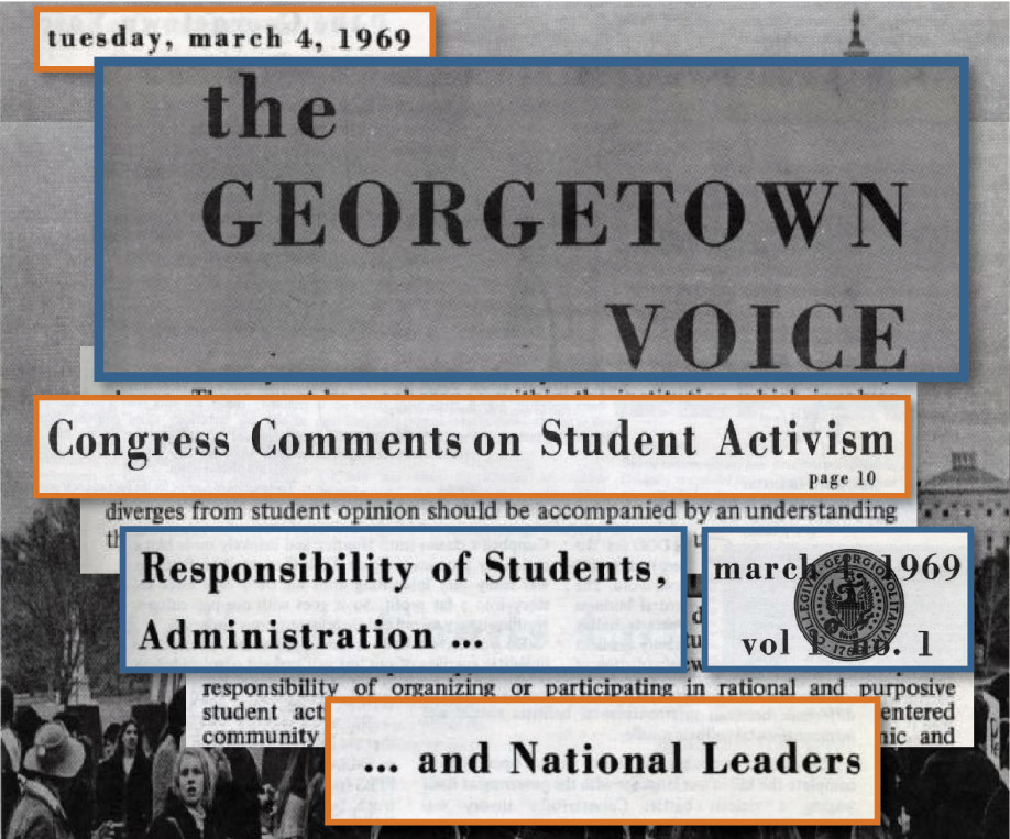 Volume 1 Issue 1: The First Years of <i>The Georgetown Voice</i>