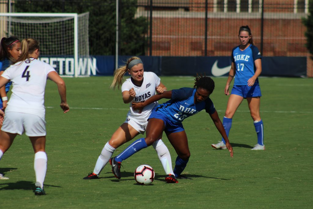 Hard Fought Battle with No. 10 Duke Ends Scoreless for Women's Soccer