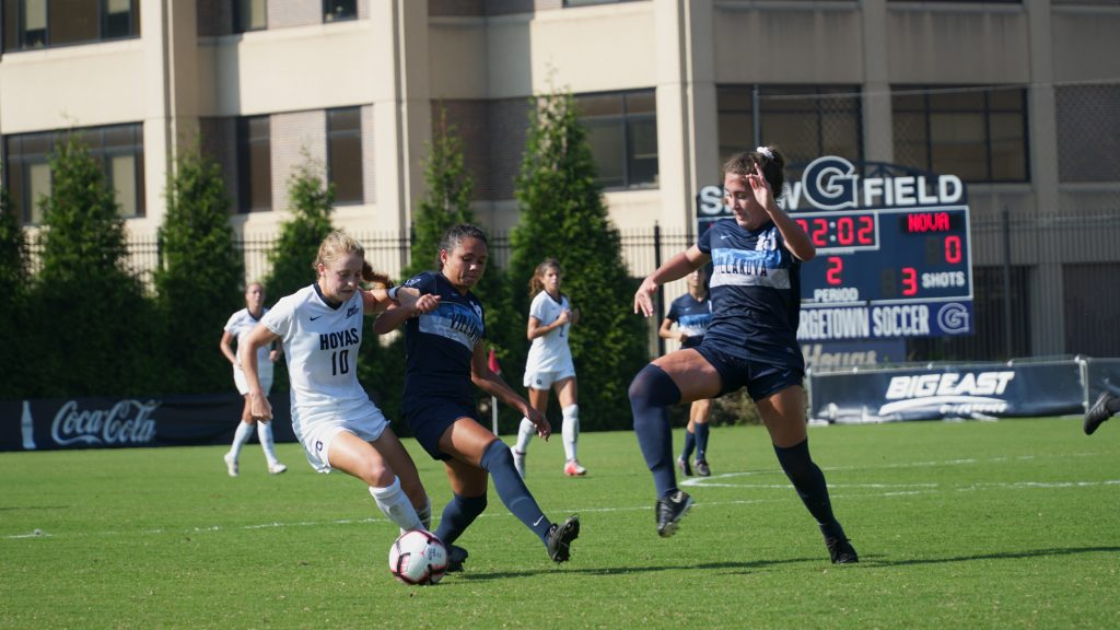 Hoyas Fall 2-0 to No 5. Virginia