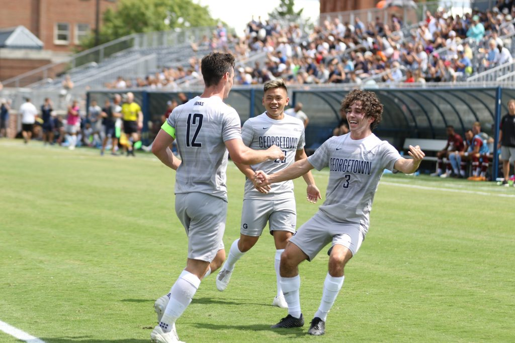 Men's Soccer Cruises Past UConn in Style