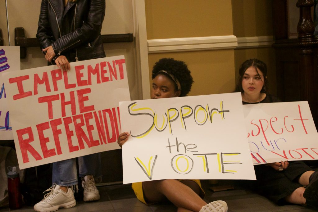 Students Call For Action on GU272 Referendum