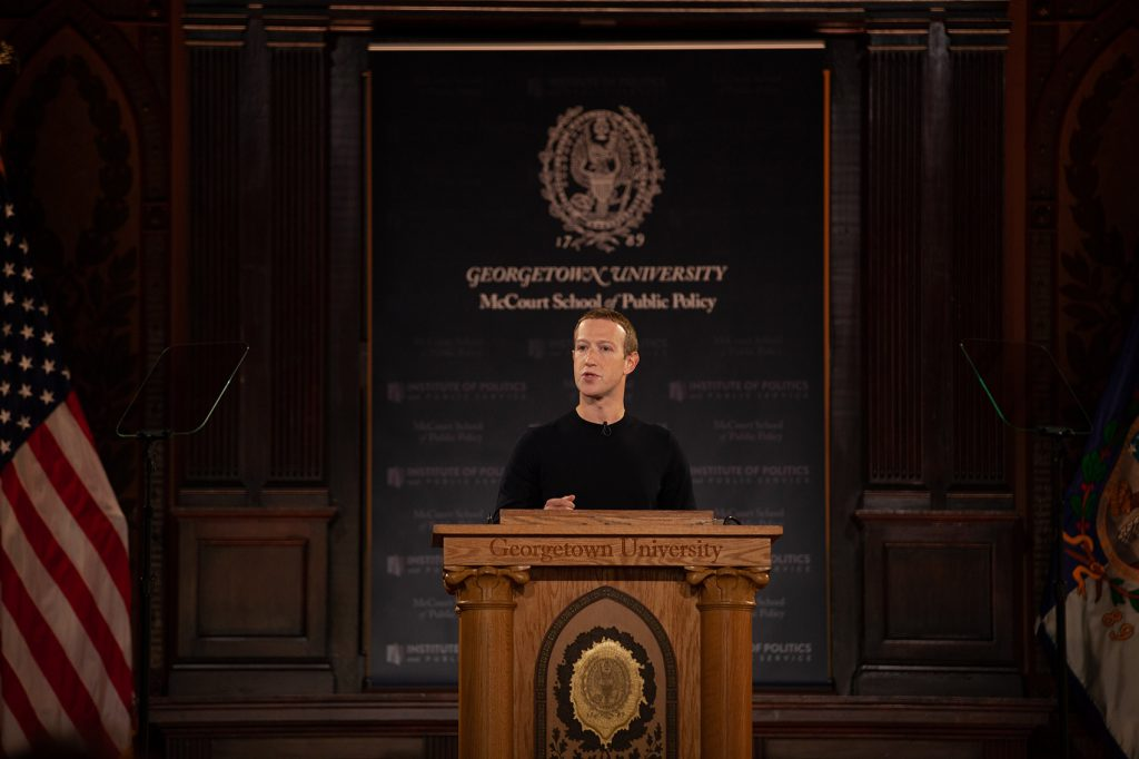 Mark Zuckerberg Visits Georgetown to Discuss Free Expression